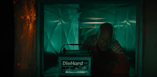 Invoking Die Hard the Movie to Promote the Battery