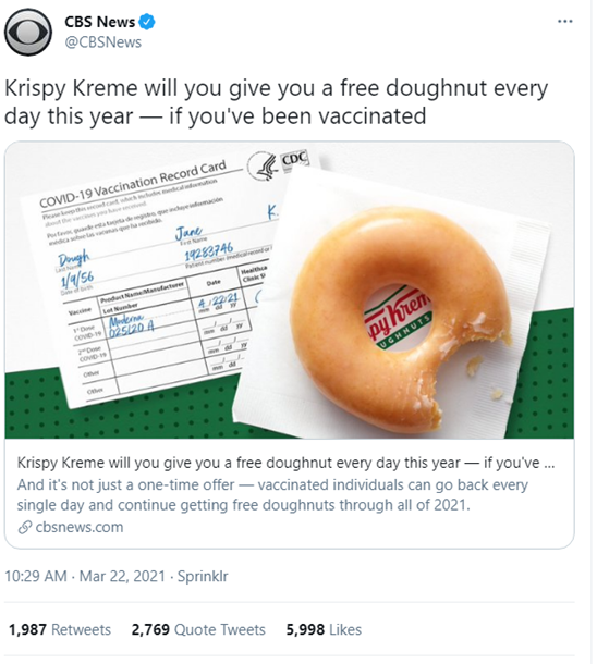 Who Would Say No to Free Donuts?