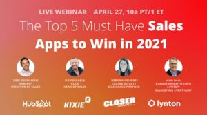Upcoming Webinar: Top 5 Apps for Sales Teams to Win in 2021
