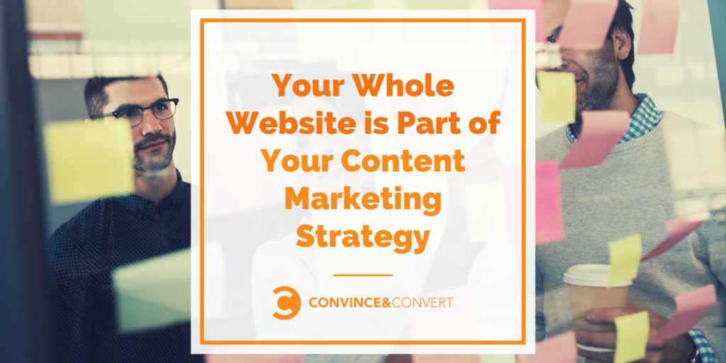 Your Whole Website is Part of Your Content Marketing Strategy